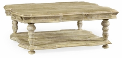 495305-LMA Jonathan Charles Fine Furniture JC Edited - Artisan Square Limed Acacia Coffee Table
