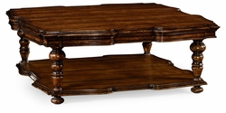495305-RWL Jonathan Charles Fine Furniture JC Edited - Artisan Square Rustic Walnut Coffee Table