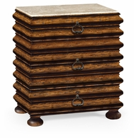 495321-RWL Jonathan Charles Fine Furniture JC Edited - Artisan Rectangular Rustic Walnut Chest Of Drawers