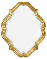 495323-GIL Jonathan Charles Moroccan Oval Antique Mirror (Gilded)