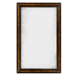 495331-RWL Jonathan Charles Casual JC Edited - Artisan Collection Rectangular Rustic Walnut Antique Mirror