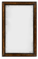 495331-RWL Jonathan Charles Fine Furniture JC Edited - Artisan Rectangular Rustic Walnut Antique Mirror