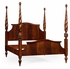 495332-USQ-MAH Jonathan Charles Buckingham Us Queen Four Poster Mahogany Plantation Bed
