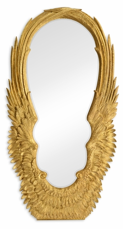 495342-GIL Jonathan Charles Fine Furniture JC Modern - Icarus Classical Gilded Winged Floor Mirror