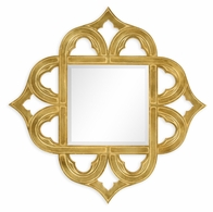 495350-GIL Jonathan Charles Moroccan Gilded Gold-Leaf Mirror