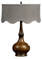495354-RWL Jonathan Charles Fine Furniture JC Edited - Artisan Rustic Walnut Wood Table Lamp
