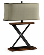 495356-RWL Jonathan Charles Fine Furniture JC Edited - Artisan Artisan Table Lamp In Rustic Walnut With Wrought Iron