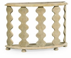 495386-LMA Jonathan Charles Fine Furniture JC Edited - Artisan Demilune Console Table In Limed Acacia