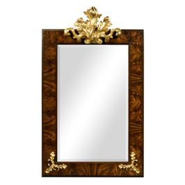 495405-BMA-GIL Jonathan Charles Traditional Monte Carlo Collection Hallway Mirror With Gilded Carving