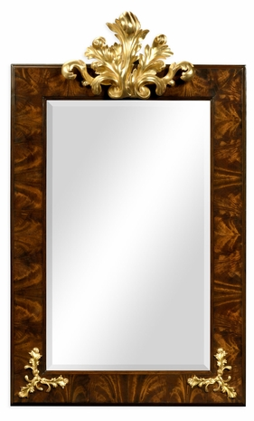 495405-BMA-GIL Jonathan Charles Monte Carlo Hallway Mirror With Gilded Carving