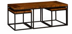 495422-RWL Jonathan Charles Fine Furniture JC Edited - Artisan Rectangular Coffee Table In Rustic Walnut