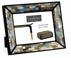 "495490-GBM Jonathan Charles Fine Furniture JC Modern - Indochine 5""X7"" Rectangular Mother Of Pearl Picture Frame"