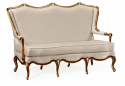 495508-BMA-F001 Jonathan Charles Monte Carlo Classical Bench With Gilt Carved Detailing Upholstered In Mazo