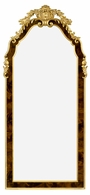 495510-BMA-GIL Jonathan Charles Monte Carlo Standing Mirror With Gilt Carved Detailling