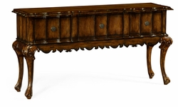 495513-RWL Jonathan Charles Fine Furniture JC Edited - Artisan Rectangular Console Table In Rustic Walnut With Drawers
