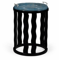 495522-BLG Jonathan Charles Fine Furniture JC Modern - Eclectic Smoky Black Side Table With Reversible Top