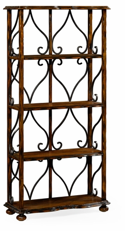 495537-RWL Jonathan Charles Fine Furniture JC Edited - Artisan Four-Tier Etagere In Rustic Walnut