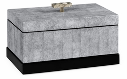 495540-EC001 Jonathan Charles Fine Furniture JC Modern - Indochine White Smoke Eggshell Rectangular Box