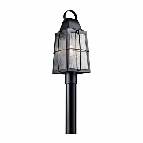 49555BKT Kichler Coastal Lantern Outdoor Post Mount 1Lt