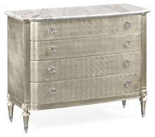 495561-ESF Jonathan Charles Fine Furniture JC Modern - Belgravia Silver Espresso Chest Of Drawers