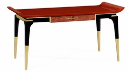 495579-EDR Jonathan Charles Fine Furniture JC Modern - Indochine Red Emperor Desk