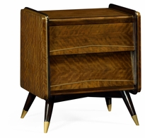 495580-DLF Jonathan Charles Fine Furniture JC Modern - Cosmo Hyedua Mid-Century Bedside Chest Of Drawers