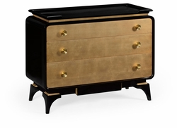 495584-BLG Jonathan Charles Fine Furniture JC Modern - Indochine Black Lacquer Chest Of Drawers
