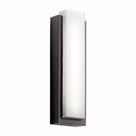 49558AZLED Kichler Soft Contemporary - Large Outdoor Wall 2Lt LED