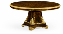 "495641-63D-BMA-GIL Jonathan Charles Monte Carlo 63"" Dining Table With Gilt Carved Molding"