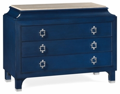 495652-BBO Jonathan Charles Fine Furniture JC Modern - Eclectic Antique Blue Oak Chest Of Drawers