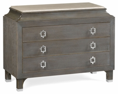 495652-SGO Jonathan Charles Fine Furniture JC Modern - Eclectic Pewter Oak Chest Of Drawers