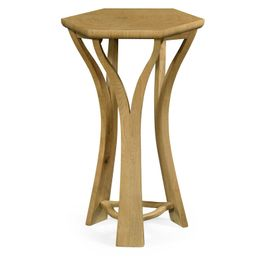 495659-LWO Jonathan Charles Casual JC Edited - Architects House Collection Architectural Hexagonal Oyster Lamp Table