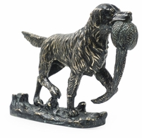 495693-DKB Jonathan Charles Curated Dark Bronze Golden Retriever Dog