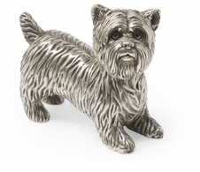 495694-AWB Jonathan Charles Curated Antique White Brass Yorkshire Terrier Dog