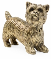 495694-BLT Jonathan Charles Curated Light Antique Brass Yorkshire Terrier Dog