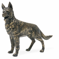 495695-DBR Jonathan Charles Curated Antique Dark Bronze German Shepherd Dog