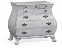 495724-LGM Jonathan Charles Curated Grey Mahogany Bombe Chest