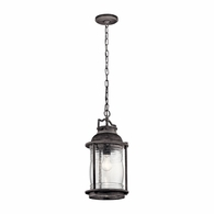 49572WZC Kichler Lodge Country Rustic Outdoor Hanging Pendant 1Lt