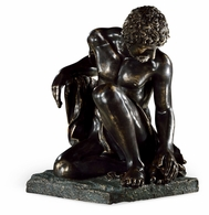 495749-DBR Jonathan Charles Curated Antique Dark Bronze Greek Statue