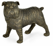 495752-DBR Jonathan Charles Curated Antique Dark Bronze Bulldog