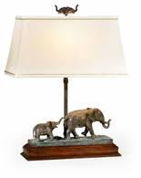 495762-LFT-DBR Jonathan Charles Curated The Elephant Table Lamp (Left)