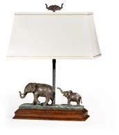 495762-RGT-DBR Jonathan Charles Curated The Elephant Table Lamp (Right)