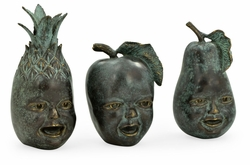 495766-DKB Jonathan Charles Curated Dark Bronze Fruit & Children's Faces