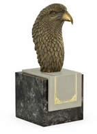 495768-DBR Jonathan Charles Curated Anitque Dark Bronze Bald Eagle Head