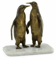 495774-DBR Jonathan Charles Curated Anitque Dark Bronze Penguins