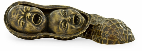 495775-BRS-026 Jonathan Charles Cosmo Peanut Shell With Faces Inside
