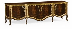 495803-BMA Jonathan Charles Monte Carlo Low Mahogany & Gilded Entertainment Unit