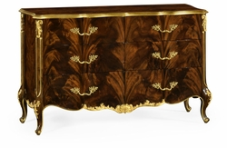 495807-BMA Jonathan Charles Monte Carlo 6 Drawer Double Dresser In Brown Mahogany