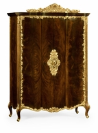 495810-BMA Jonathan Charles Monte Carlo Mahogany & Gilded Carved Armoire