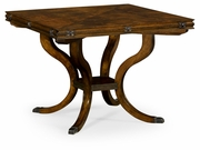 "495821-42L-LBM Jonathan Charles Brompton 42"" Square Brown Mahogany Extending Dining Table"